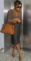 Victoria Beckham Birkin bag collection from Hermes brown 028