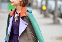 bright colors fashion trend Fashion Week street style Miroslava Duma color block perfecto jacket 005