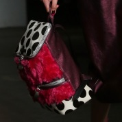 house-of-holland-london-fashion-week-aw14-pink-textured-backpack-trend
