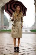 street style-umbrella-trench