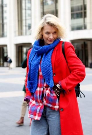 Zanita-New_York_Fashion_Week_2013-Red_Coat-Electric_Blue-Street_Style-