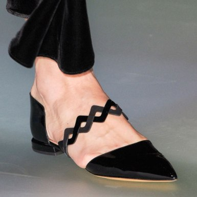 Emporio-Armani-Fall-2014-pointy-toe-patent-flat