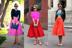 how to wear a midi skirt