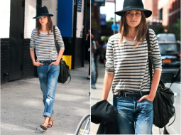 andreea-diaconu-street-style-hat-jeans-stripes-fashion-week-by-citizen-couture