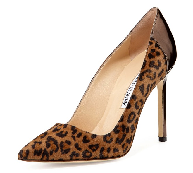 Manolo-Blahnik-Suede-Pointy-Toe-Pumps-Leopard-Print-Shoes-For-Women