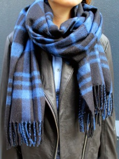 Blue Plaid Scarf