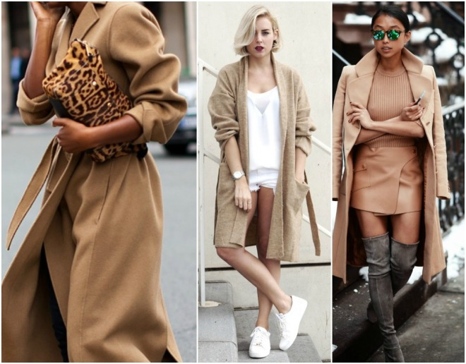 camel street style fashion trend fall 2014 outfits coat chunky knit cardigan sweater