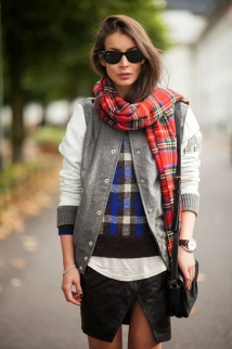 plaid-scarf-sweater-varsity-jacket